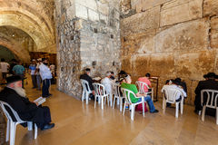 Interior view of Cave Synagogue in Jerusalem. Stock Photo