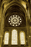 Interior view of Chartres Cathedral Stock Photography