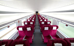 Interior view of China high speed train Royalty Free Stock Photography