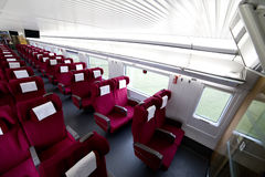 Interior view of China high speed train Stock Images