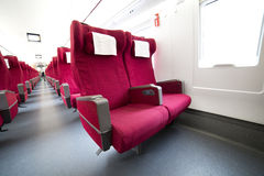 Interior view of China high speed train Stock Photo