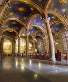 Interior view of the Church of All Nations or the Basilica of the Agony on the Mount of Olives in Jerusalem. Jerusalem, Israel - June 16, 2018: Interior view of stock photo