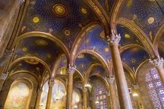 Interior view of the Church of All Nations or the Basilica of the Agony on the Mount of Olives in Jerusalem. Interior view of the Church of All Nations or the royalty free stock images