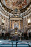 Interior view of the the Church of Gesu in Rome Royalty Free Stock Images