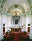 Interior view of the church Royalty Free Stock Image
