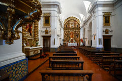 Interior view of the the Church of Our Lady of the Pillar Royalty Free Stock Image