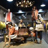 Interior view of  clothing shop Stock Images