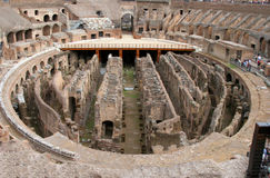 Interior View of the Colosseum in Rome Royalty Free Stock Image