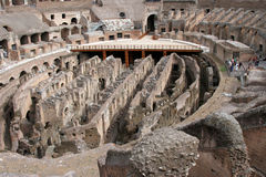 Interior View of the Colosseum in Rome Stock Photo