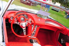 Interior view of Convertible car Royalty Free Stock Photos
