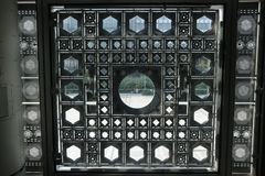 `Institut du Monde Arabe` Windows from the Interior Stock Photos