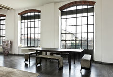 Interior, view of the dining table Stock Images