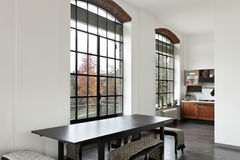 Interior, view of the dining table Royalty Free Stock Image