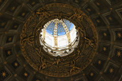 Interior view of the dome of Duomo di Siena. Metropolitan Cathedral of Santa Maria Assunta. Tuscany. Italy. stock photography