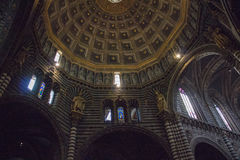 Interior view of the dome of Duomo di Siena. Metropolitan Cathedral of Santa Maria Assunta. Tuscany. Italy. Royalty Free Stock Photos