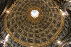 Interior view of the dome of Duomo di Siena. Metropolitan Cathedral of Santa Maria Assunta. Tuscany. Italy. Royalty Free Stock Images