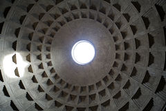 Interior view of the dome of the Pantheon in Rome Royalty Free Stock Photo