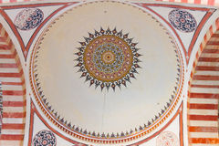 Interior view of a dome from Selimiye Mosque Royalty Free Stock Image