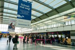 Interior view of the Dortmund Airport royalty free stock image