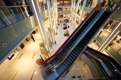 Interior View of Dubai Mall Stock Image