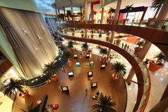Interior View of Dubai Mall Royalty Free Stock Image