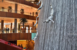 Interior View of Dubai Mall Royalty Free Stock Photos