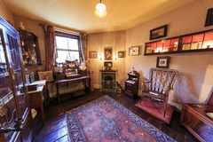 Interior view of the famous The Sherlock Holmes Museum, London, Stock Photos