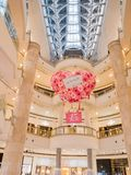 Interior view of the famous Taipei 101. Taipei, MAY 22: Interior view of the famous Taipei 101 on MAY 22, 2018 at Taipei, Taiwan Stock Images