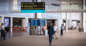 Interior view of Faro International Airport - Portugal stock images