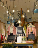 Interior view of female fashion shop Royalty Free Stock Photography