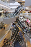 Interior view of Festival Walk shopping center and office building Royalty Free Stock Photo