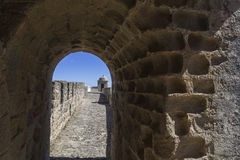 Interior view of a fortress battlements royalty free stock photos