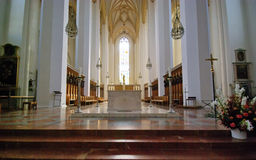 Interior view of Frauenkirche Cathedral Stock Photo