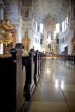 Interior View Of Frauenkirche Cathedral Stock Photos