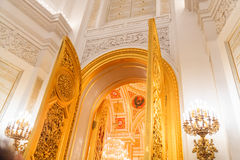 The interior view of the Georgievsky hall in the Grand Kremlin Palace in Moscow Stock Photography