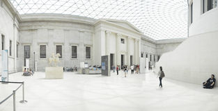 Interior view of the Great Court at the British Museum in London Stock Image
