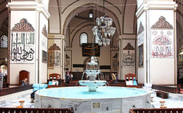 Interior view of Great Mosque (Ulu Cami) Royalty Free Stock Images