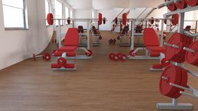 Interior view of a Gym Royalty Free Stock Photo