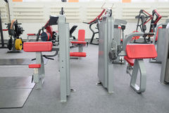 Interior view of a gym with equipment Royalty Free Stock Photos
