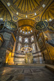 Interior view of Haghia Sophia, Istanbul, Turkey Royalty Free Stock Images