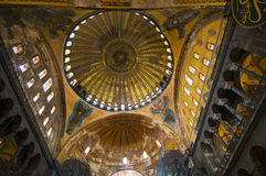 Interior view of the Hagia Sophia Royalty Free Stock Photos