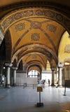 Hagia Sophia Mosque Istanbul Panoramic. Interior view of Hagia Sophia Mosque Istanbul Panoramic royalty free stock photography