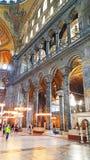 Hagia Sophia Mosque Istanbul Panoramic. Interior view of Hagia Sophia Mosque Istanbul Panoramic stock photo