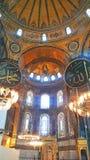 Hagia Sophia Mosque Istanbul Interior Dome. Interior view of Hagia Sophia Mosque Istanbul Panoramic royalty free stock image