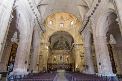 Interior view of Havana Cathedral royalty free stock images