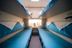 Interior view of a high speed rail train. Zhuhai, DEC 30: Interior view of a high speed rail train on DEC 30, 2019 at Zhuhai, China royalty free stock photography