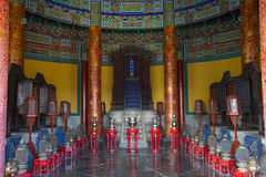 Interior view of  historic Chinese emperor palace Royalty Free Stock Photography