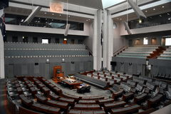 Interior view of the House of Representatives in Parliament House, Canberra Stock Photography