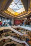 Interior view of ICON SIAM, is the new Shopping Center and Landmark of Bangkok, Thailand. royalty free stock photo