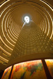 Interior view of the Jin Mao Tower in Shanghai royalty free stock photography